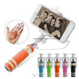 Mini palillo Handheld atado con alambre Handheld de Selfie para el iPhone Samsung Teléfono-Anaranjada