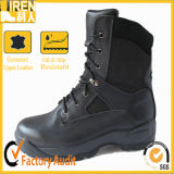 Heißes Style Highquality Black Leather Military Combat Boot mit Rubber Sole