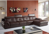 Sofà sezionale moderno con cuoio genuino per mobilia domestica