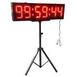 """el reloj al aire libre de 8 """" 6 dígitos LED para los acontecimientos corrientes, dobla echado a un lado con el trípode, RF teledirigido"""