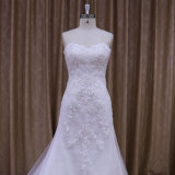 Échantillon réel de robe de mariage de sirène