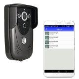 Беспроволочная видео- внутренная связь WiFi дверного звонока, активированное движение PIR, водоустойчивое, Android поддержки/Ios APP, открывает мобильным устройством (iPad, мобильным телефоном)