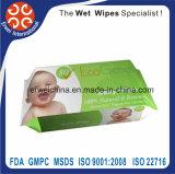 Wipes de limpeza espertos sem álcôol do bebê de Orgnic