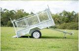 Acoplado completamente soldado de /Dump del acoplado del coche de /Farm Uitlity del acoplado de la jaula del acoplado del rectángulo de la placa del cuadro