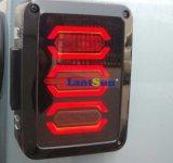 Il kit posteriore europeo dell'indicatore luminoso della coda del segnale di girata del freno di inverso dell'edizione di disegno di modo LED misura il Wrangler Jk 2007~2016 della jeep