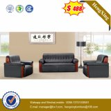 Zwei Sitze überziehen Besucher-Büro-Sofa mit Leder (HX-CS058)
