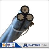 Cabo de alumínio com isolação de PVC/PE/XLPE, cabo elétrico do ABC do condutor do ABC