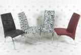 Preiswerter PU-Kissen-Edelstahl-Kaffee, der Stuhl speist