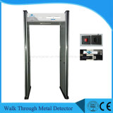 Security Walk Through Metal Detector, detector de metais de porta de portas de 6 zonas
