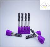 Cutoutil HRC45 Tialnのコーティング 鋼鉄CNCの機械化の部品&#160のためのD2*6*D4*50 2f/4f; Square 炭化物の端製造所のツール