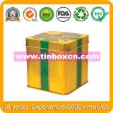 Квадратная коробка подарка металла для конфеты шоколада, контейнера олова подарка