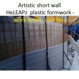Trabajo plástico del encofrado de la acera del jardín más rápidamente, coste menos, peso ligero, Reusabl