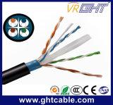 4X0.52mmcu, 0.95mmpe, O.D.: 6.1mm im Freien UTP CAT6 Kabel