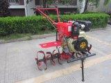 Cultivador manual del combustible diesel con las láminas rotatorias largas de la sierpe de la buena calidad