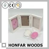 Blocco per grafici di legno della foto del bambino del blocco per grafici bianco del collage 3 con argilla