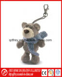 Brinquedo Loveable do urso da peluche de Keychain do luxuoso com Keyring