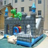 Замок раздувного динозавра игрушки скача