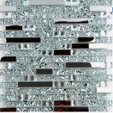 Decoração nova de Backsplash da cozinha do chuveiro do papel de parede do fundo do espelho da cintura da telha do mosaico do cristal do metal do aço inoxidável