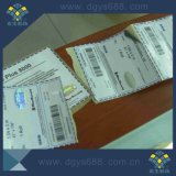 Étiquette de Anti-Contrefaçon polychrome de code à barres