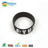 Bracelete popular personalizado do silicone da forma para o festival, partido
