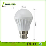 Do Ce plástico da luz de bulbo do diodo emissor de luz do fornecedor de China bulbo 2017 energy-saving do diodo emissor de luz do poder superior B22 5W SMD5730 da luz de bulbo do diodo emissor de luz de RoHS