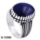 Anello d'argento dello smalto di Rould dell'anello 925 d'argento dell'uomo dei monili per gli uomini