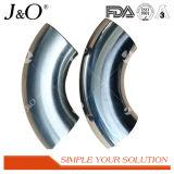 Long coude sanitaire de l'acier inoxydable 90d