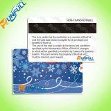 Carte promotionnelle de cadeau d'adhésion d'affaires de fidélité de PVC dans la taille Cr80