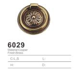 Tirón de cobre amarillo antiguo de la maneta de la cabina del tirón de la maneta 2016 (6029)