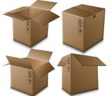 Rectángulo y materiales del cartón para hacer el rectángulo del cartón