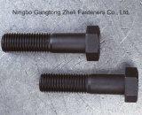 Boulons Hex lourds des dispositifs de fixation DIN933 de la pente 12.9 pour la surface noire