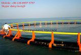 Jaula plástica de los pescados de la acuacultura del cuadrado costa afuera del equipo