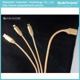 3 in 1 Snelle het Laden Kabel van de Bliksem voor iPhone 6s/Samsung/Tablet