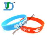 Wristband feito sob encomenda do silicone/bracelete por atacado do silicone