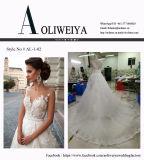 Линия/Princess Lhbim Neckline Tulle/платья венчания шнурка Bridal