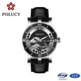 Plus défunte Madame Quartz Watches de montre de marque de cuir véritable d'usine de la Chine de type