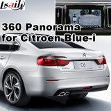 Surface adjacente de vue arrière et de panorama 360 pour Citroen neuf C4 C6 avec l'écran bleu-Je de moulage d'entrée de signal de système Lvds RVB