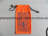 Malote/saco/caixa alaranjados dos óculos de sol de Microfiber do poliéster