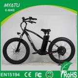 Myatu bicicleta motorizada del crucero de bicicletas grasa con 4,0 Fat Tire