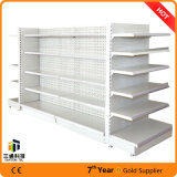 Shelving de aço do indicador de aço lateral dobro do louro/supermercado da gôndola do supermercado