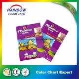 Impresión valiosa del folleto de la tarjeta del color de la buena calidad