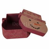 Rectángulo de zapato de papel de empaquetado de la cartulina por encargo de la impresión