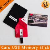 Vara da memória do USB do cartão de crédito com saco de couro (YT-3101)