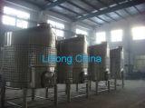 El tanque de acero inoxidable para la producción de vino con la boca lateral