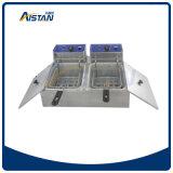 Sartén eléctrica superior contraria de Ef102V con la válvula con los 2 tanques 2 cestas