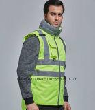 Alta visibilidad verde reflexiva para el chaleco de la seguridad del trabajador