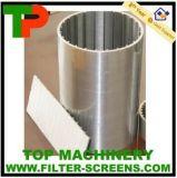 Tubería de la pantalla del filtro del alambre de la cuña del acero inoxidable