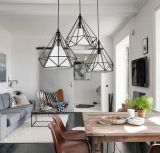 Romantische Diamant-Form-dekoratives Pendent Lampen-Licht