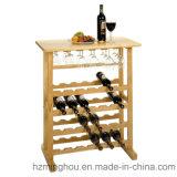 Carrinho de exposição multifuncional para piso de madeira para frutas, vinho