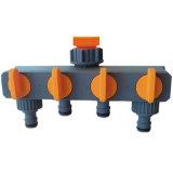 Raccords de tuyau de jardin Adaptateur de robinet d'eau ABS 4 voies